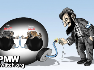 Jew divides Muslim world, Fatah cartoon-26193af7b4ba269a25e6dd8381e0a33d20b724cb