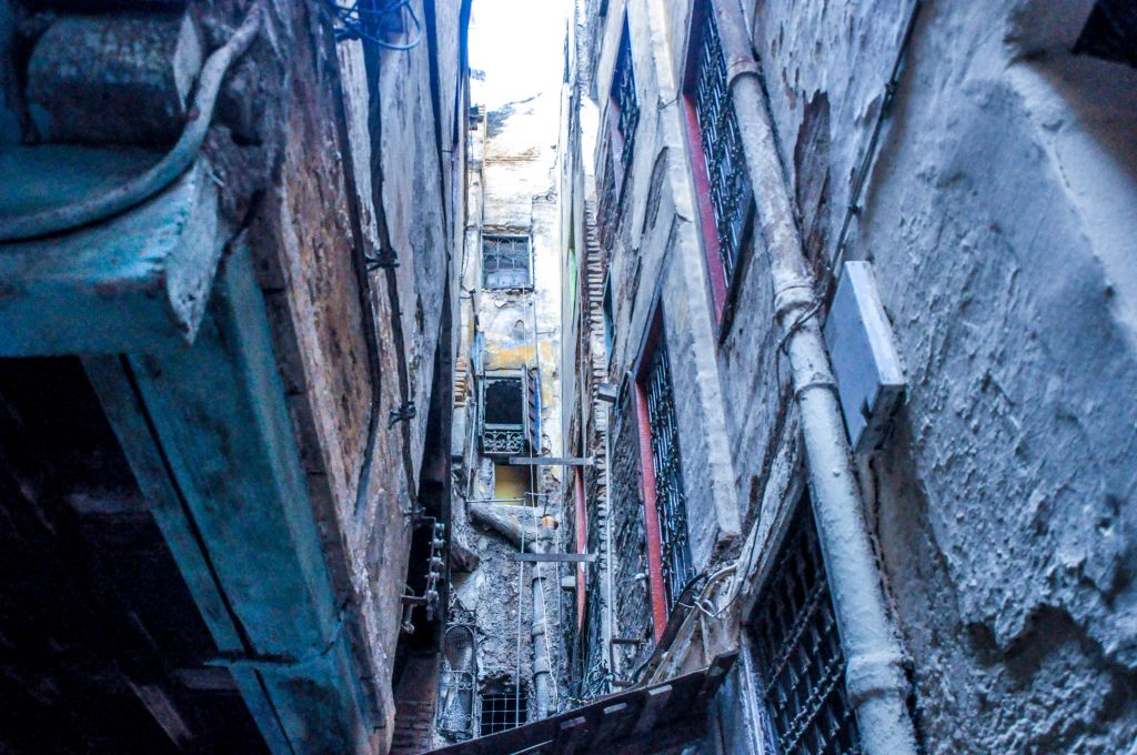 Homes in the mellah, or old Jewish quarter, of Fez, are located very close together, with tiny alleys as streets. (photo credit: Michal Shmulovich)