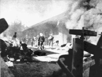 Arab attack against Jewish commercial area in Jerusalem, December 1947