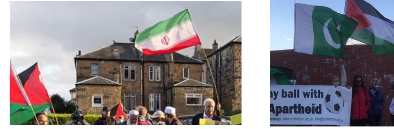 Iranian flag in Scotland